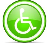 Green Accessibility Button